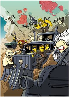 Mad Max Fury Road Simpsonized by ADN-z.deviantart.com on @DeviantArt