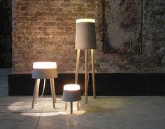 concrete table lamps   renate vos