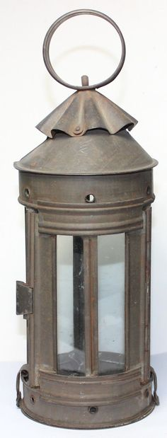 Original Civil War Era 1850s-1860s Tin Candle Lantern     Sold  Ebay   320.00