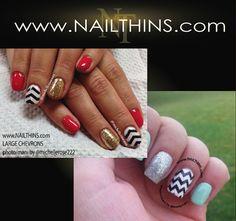 CHEVRON Nail Decal Zig Zag nail decal striped nail decal Nail Art  Nail Design on Etsy, $4.00