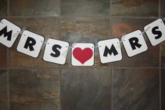 Mrs and Mrs Chair Sign Photo Prop Banner by whimsycreationsbyann, $9.99
