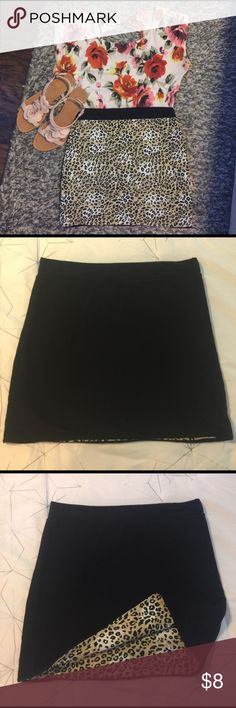 Skirt only!! Leopard print reversible skirt.  It has no tag, and is black on the other side. Skirts Mini