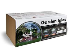 Garden Igloo is a small structure made from rust and rot-free, 100% recyclable materials