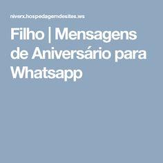 Filho | Mensagens de Aniversário para Whatsapp
