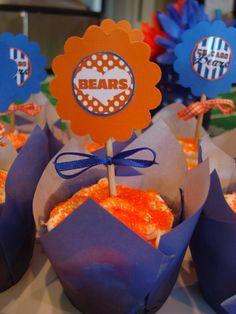 Chicago Bears cupcake