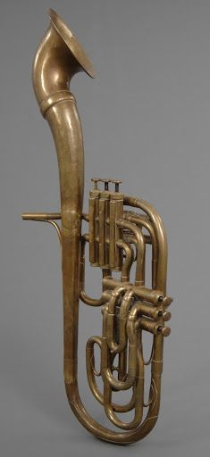Alto Saxhorn with Rotating Bell by Adolphe Sax c. 1867 | National Music Museum, University of South Dakota
