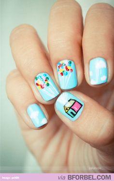 """Super cute """"UP"""" nails! #disney"""