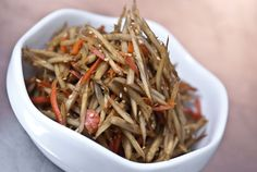 Kinpira Gobo (japanese burdock) Recipe - got some burdock so will be making this tonight