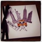 Personalised New York themed invitation