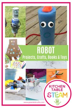 Learn more about robots with these fun and educational activities! This content supplements the projects and activities found inside our Robot Workshop Discovery Box. #greenkidcrafts #robotcrafts #robotcraftsforkids #roboticsforkids #roboticsforkids🤖 #kidscraftsideas #funcrafts #drawingrobots #craftykids #craftsforkids #craftykiddos #fallactivities #weloveautumnplay #october_play #octoberactivities #creativeplayideas #funcrafts #eyfsideas #eyfsactivities #octobergotthis #makecreateplay