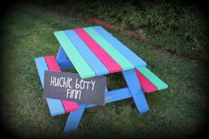 """""""Huckleberry Finn"""" ***Christmas orders close Friday 15 November 2013***  Children adore having their very own perfectly sized table. It is a wonderful place they can eat, play, draw and build. Somewhere they will love to be and they can proudly call their own space.  Tables are designed for outdoor use - durable for all weather conditions.  Products applied are premium exterior paint or stain.  They are easy to clean and move about.   At home, day care, kinder, school, play group, ..."""