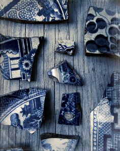 Still Life Photography Blue And White