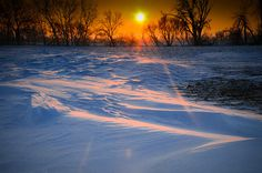 South Dakota sunrise in winter