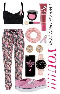 """""""I wear pink for: _______"""" by pecolajones ❤ liked on Polyvore featuring Markus Lupfer, maurices, Vans, Dolce&Gabbana, Michael Kors, Casetify, Origins, Bling Jewelry, Bobbi Brown Cosmetics and IWearPinkFor"""