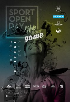 Manifesto 70x100 dell'evento Sport Open Day. Life your Game.