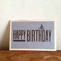 carte Happy birthday blue