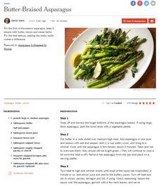 Butter Braised Asparagus