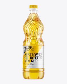 Sunflower Oil Bottle Mockup. Preview