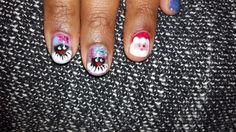Sinterklaas zwarte Piet en kerstman nail art