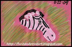 Zebra footprint craft for kids to make! Cutee
