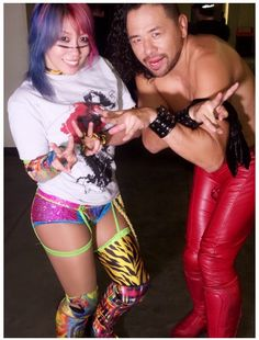 Asuka and Shinsuke Nakamura Wrestling Superstars, Wrestling Divas, Women's Wrestling, Lucha Underground, Wwe Raw And Smackdown, Wwe Girls, Wwe Ladies, Catch, Wwe Couples