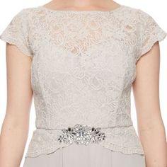 No. 1 Jenny Packham Designer light grey lace dress- at Debenhams Mobile