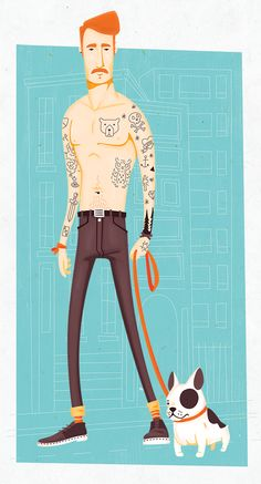 Tattooed guy by Alexandre Mauro, via Behance