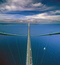 Mackinac Bridge in Michigan, USA