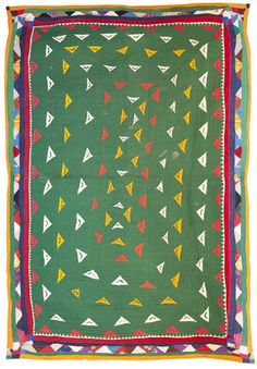 Dharki - green quilt from India