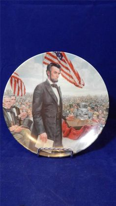 1986 Knowles The Gettysburg Address Lincoln Man of America Collectors Plate