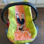 Babyschalenbezug aus Frotteehandtüchern / Cover for babysafe made from towels / Upcycling