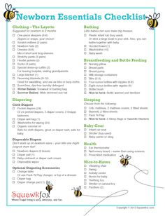 List of Newborn essentials - designed to help new parents keep from going crazy on all the baby stuff!