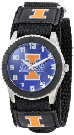 """Game Time Unisex COL-ROB-ILL """"Rookie Black"""" Watch - Illinois"""
