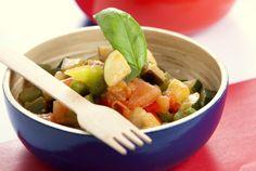 Ratatouille de legumes, uma deliciosa combinação de sabores saudáveis.