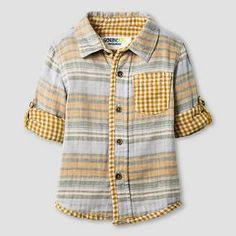 Baby Boys' Button Down Shirt - Gold Rush - Genuine Kids™ from Oshkosh®