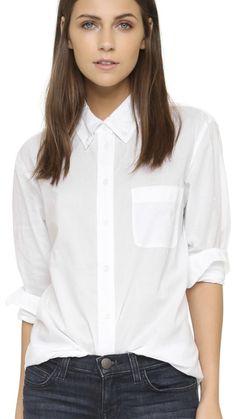 Button Down Collar, Button Downs, Button Up, Shirt Blouses, Shirts, Tops, Women, Fashion, Classic White Shirt