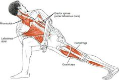 Revolved side angle yoga pose