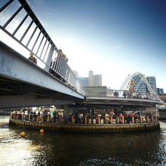 Ponyfish Island bar/restaurant in the Yarra River, Melbourne