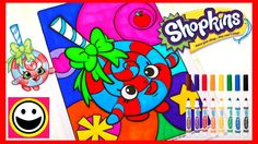 SHOPKINS Coloring Pages - LOLLI POPPINS  - Crayola Coloring Book - Color...