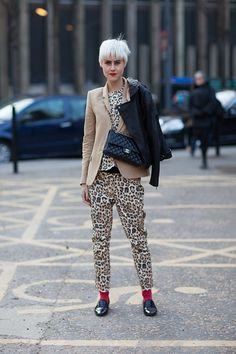 Leopard on Leopard. Bold choice. Awesome risk that paid off. #LFW