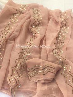 Cutwork Saree, Zardozi Embroidery, Kurti Embroidery Design, Organza Saree, Embroidery Fashion, Hand Embroidery Designs, Embroidery Dress, Embroidered Clothes, Embroidered Roses