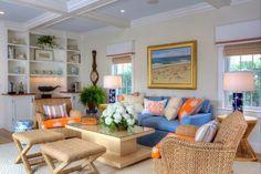 Everything Coastal....: Orange Crushing - 10 Coastal Decorated Spaces