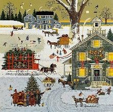 Charles Wysocki  -Cape Cod Christmas