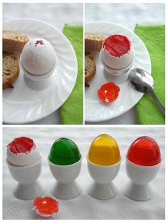 Jello eggs.