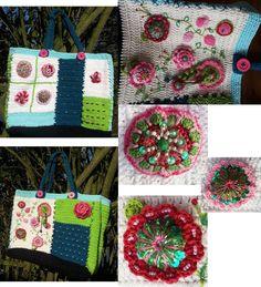 Deze tas is gemaakt door Marianne Uni Pot Holders, Crocheting, Knit Crochet, Projects To Try, Knitting, Crochet, Chrochet, Tricot, Breien