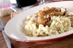 RISOTTO WITH CHANTERELLES AND WHITE WINE // RISOTTO Z KURKAMI I BIAŁYM WINEM