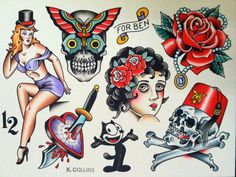 The Brompton Cocktail - Kevin Collins , PA American Tattoos, Brompton, Traditional Tattoo, Hockey, Teeth, Snow White, Tattoo Designs, Disney Characters, Fictional Characters