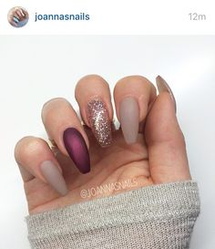 A little natural with a hint sparkle & plum