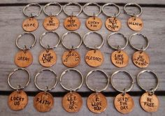 Set of 2 Hand Stamped Penny Keychains  18 by LonelyTreeDesign