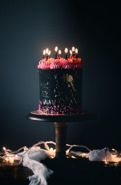 Dark Rainbow Cake